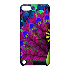 Peacock Abstract Digital Art Apple Ipod Touch 5 Hardshell Case With Stand