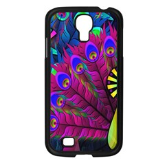 Peacock Abstract Digital Art Samsung Galaxy S4 I9500/ I9505 Case (black)