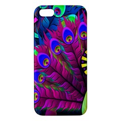Peacock Abstract Digital Art Iphone 5s/ Se Premium Hardshell Case