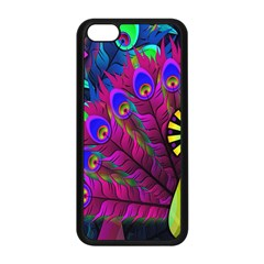 Peacock Abstract Digital Art Apple Iphone 5c Seamless Case (black)