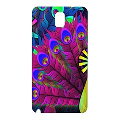 Peacock Abstract Digital Art Samsung Galaxy Note 3 N9005 Hardshell Back Case