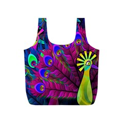 Peacock Abstract Digital Art Full Print Recycle Bags (s)