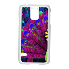 Peacock Abstract Digital Art Samsung Galaxy S5 Case (White)