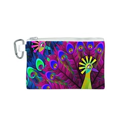 Peacock Abstract Digital Art Canvas Cosmetic Bag (s)
