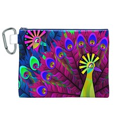 Peacock Abstract Digital Art Canvas Cosmetic Bag (xl)