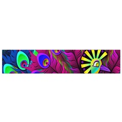 Peacock Abstract Digital Art Flano Scarf (small)