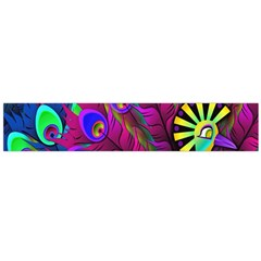 Peacock Abstract Digital Art Flano Scarf (Large)