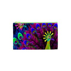 Peacock Abstract Digital Art Cosmetic Bag (XS)