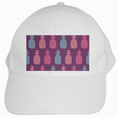 Pineapple Pattern  White Cap