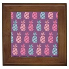 Pineapple Pattern  Framed Tiles