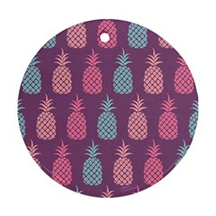 Pineapple Pattern  Round Ornament (Two Sides)