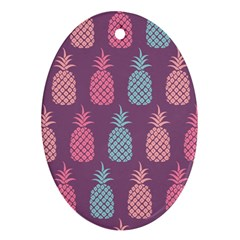 Pineapple Pattern  Oval Ornament (Two Sides)