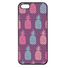 Pineapple Pattern  Apple Iphone 5 Seamless Case (black)