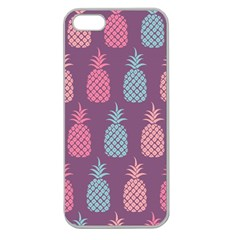Pineapple Pattern  Apple Seamless Iphone 5 Case (clear)
