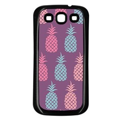 Pineapple Pattern  Samsung Galaxy S3 Back Case (black)