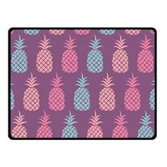Pineapple Pattern  Double Sided Fleece Blanket (small)