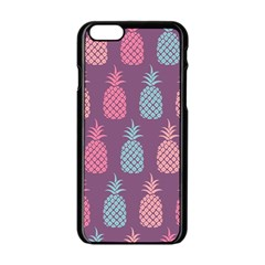 Pineapple Pattern  Apple iPhone 6/6S Black Enamel Case