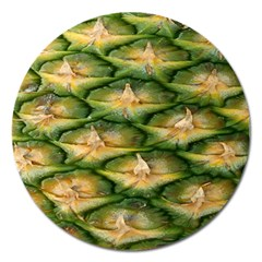 Pineapple Pattern Magnet 5  (Round)