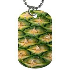 Pineapple Pattern Dog Tag (One Side)