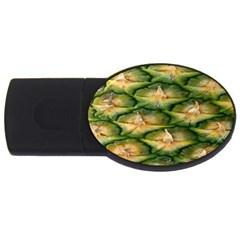 Pineapple Pattern USB Flash Drive Oval (4 GB)