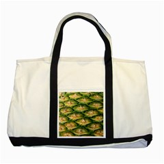 Pineapple Pattern Two Tone Tote Bag
