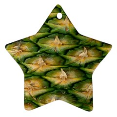 Pineapple Pattern Star Ornament (Two Sides)