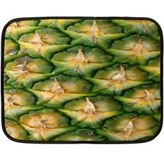 Pineapple Pattern Double Sided Fleece Blanket (Mini)
