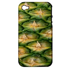 Pineapple Pattern Apple Iphone 4/4s Hardshell Case (pc+silicone)