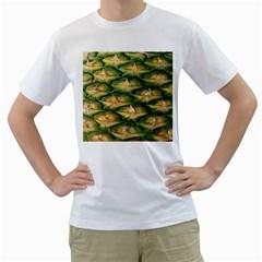 Pineapple Pattern Men s T Shirt (white)