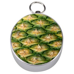 Pineapple Pattern Silver Compasses