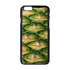 Pineapple Pattern Apple Iphone 6/6s Black Enamel Case