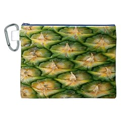 Pineapple Pattern Canvas Cosmetic Bag (XXL)