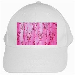 Pink Curtains Background White Cap