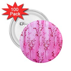 Pink Curtains Background 2.25  Buttons (100 pack)