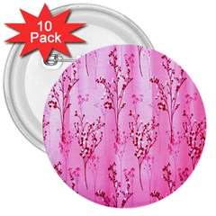 Pink Curtains Background 3  Buttons (10 pack)