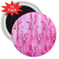 Pink Curtains Background 3  Magnets (10 pack)