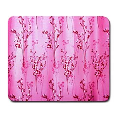 Pink Curtains Background Large Mousepads