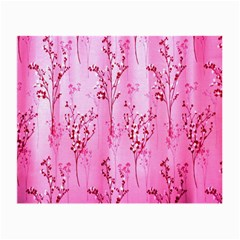 Pink Curtains Background Small Glasses Cloth