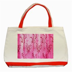 Pink Curtains Background Classic Tote Bag (red)