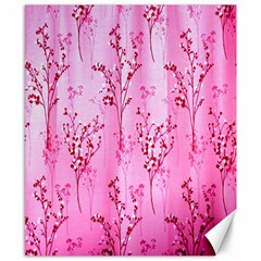 Pink Curtains Background Canvas 8  x 10