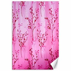 Pink Curtains Background Canvas 12  X 18