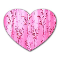 Pink Curtains Background Heart Mousepads