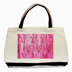 Pink Curtains Background Basic Tote Bag (Two Sides)