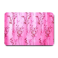Pink Curtains Background Small Doormat