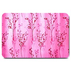 Pink Curtains Background Large Doormat