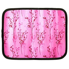 Pink Curtains Background Netbook Case (Large)
