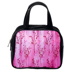 Pink Curtains Background Classic Handbags (One Side)