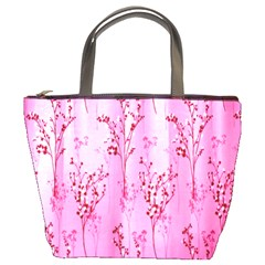 Pink Curtains Background Bucket Bags