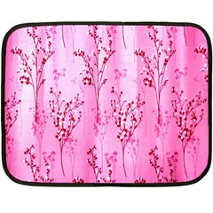 Pink Curtains Background Double Sided Fleece Blanket (Mini)