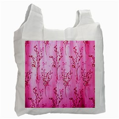 Pink Curtains Background Recycle Bag (One Side)